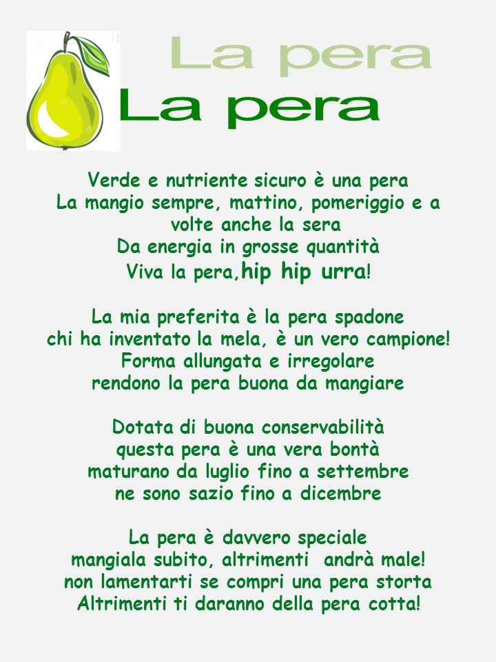 Verde e nutriente sicuro è una pera