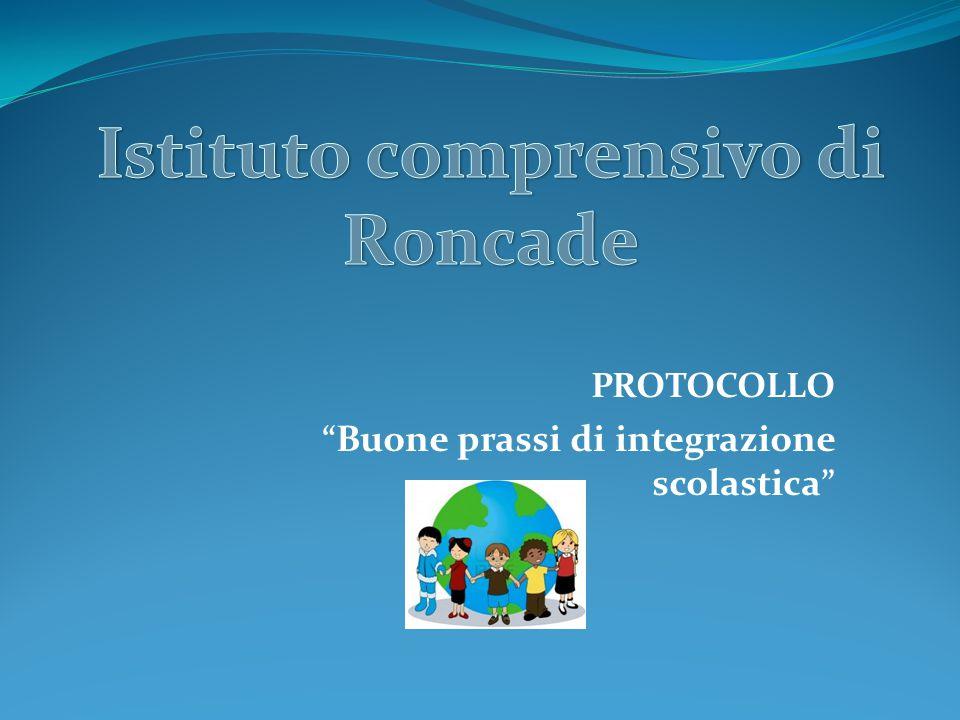 PROTOCOLLO Buone prassi di integrazione scolastica