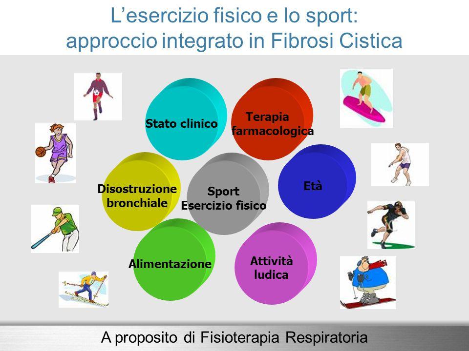 L'esercizio fisico e lo sport: approccio integrato in Fibrosi Cistica