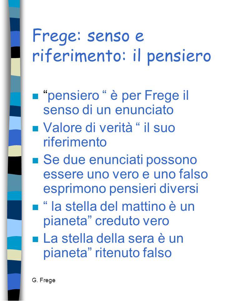 Frege: senso e riferimento: il pensiero