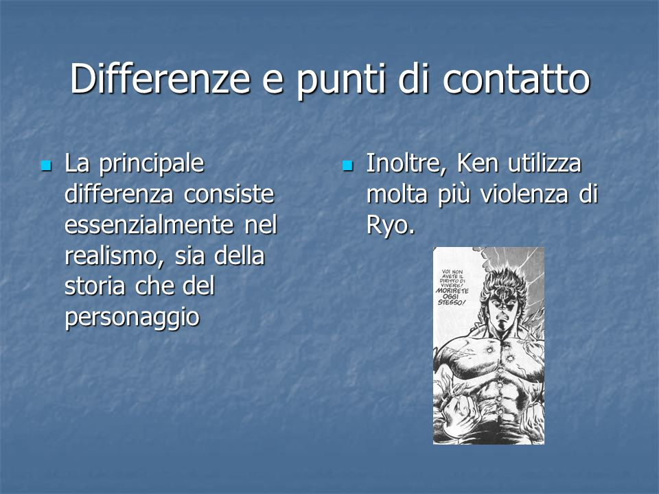 Differenze e punti di contatto