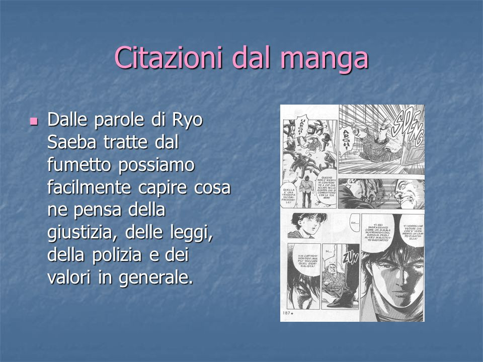 Citazioni dal manga