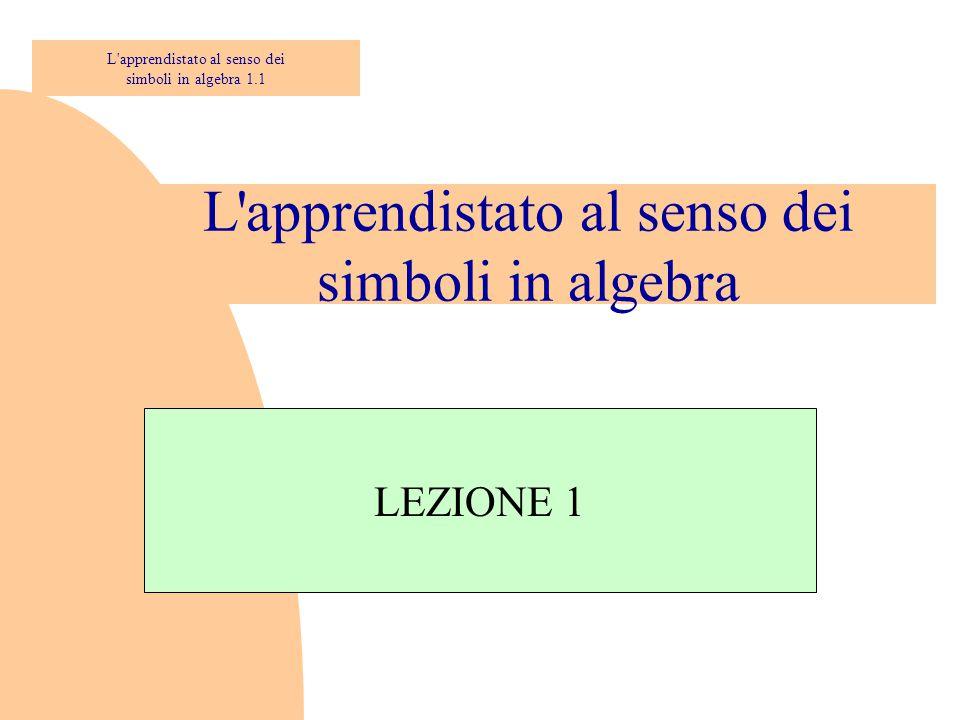 L apprendistato al senso dei simboli in algebra