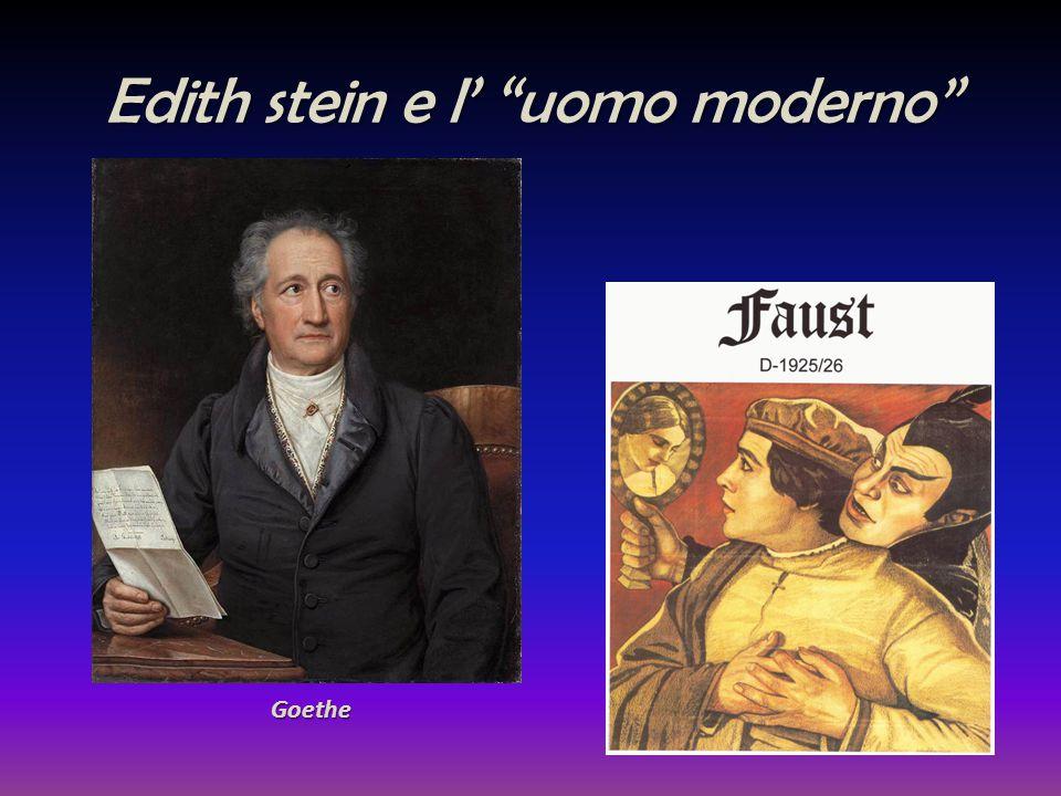 Edith stein e l' uomo moderno
