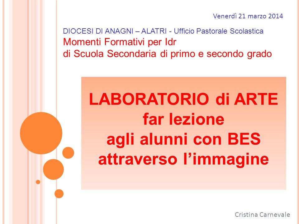 Venerdì 21 marzo 2014 DIOCESI DI ANAGNI – ALATRI - Ufficio Pastorale Scolastica. Momenti Formativi per Idr.