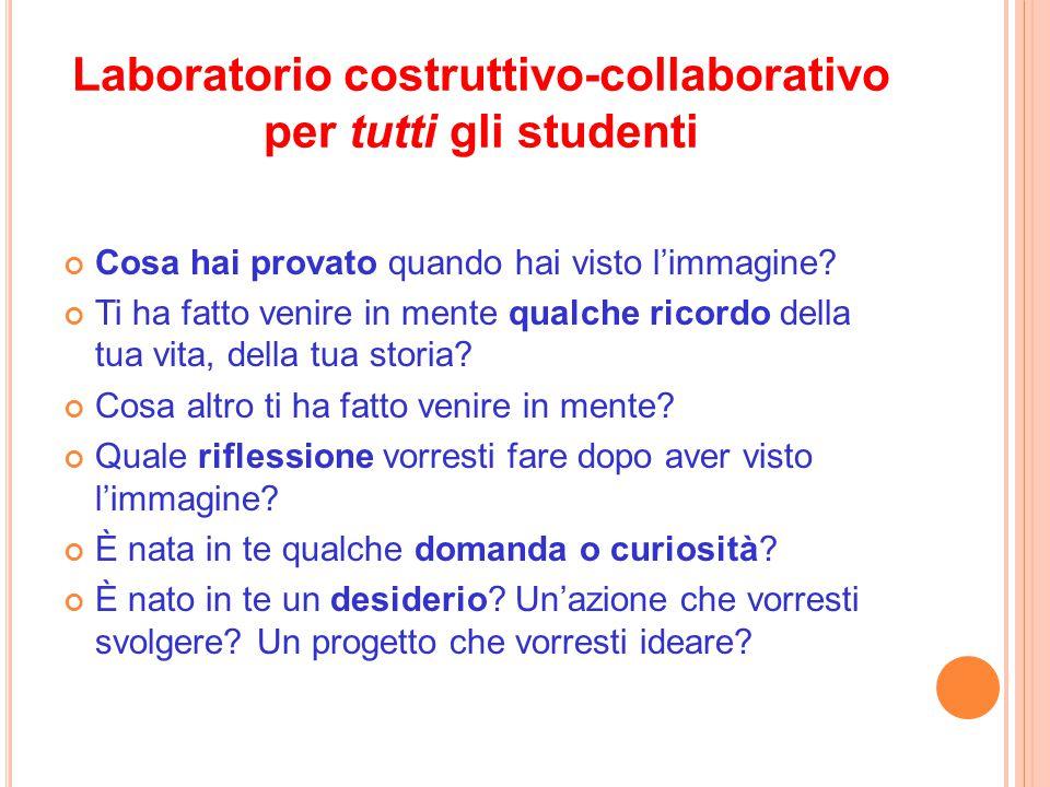 Laboratorio costruttivo-collaborativo per tutti gli studenti
