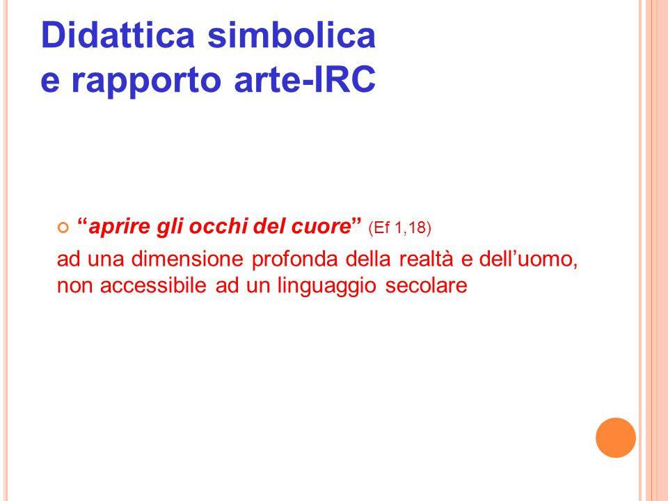 Didattica simbolica e rapporto arte-IRC