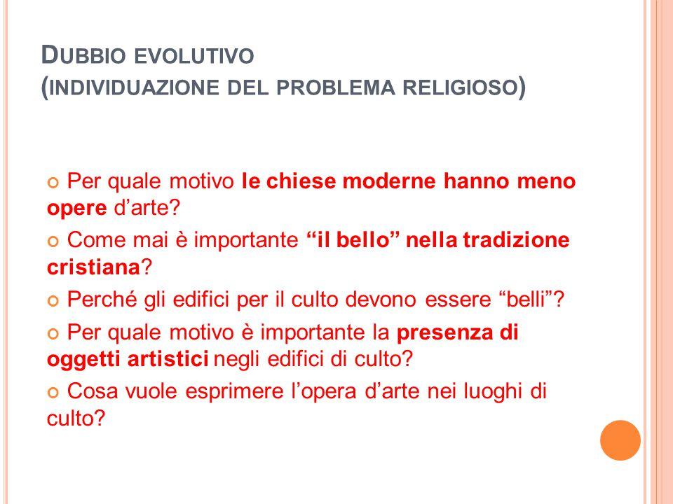 Dubbio evolutivo (individuazione del problema religioso)