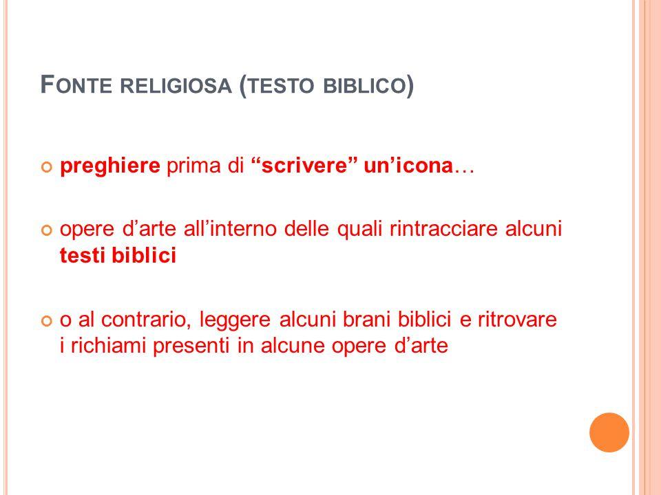 Fonte religiosa (testo biblico)