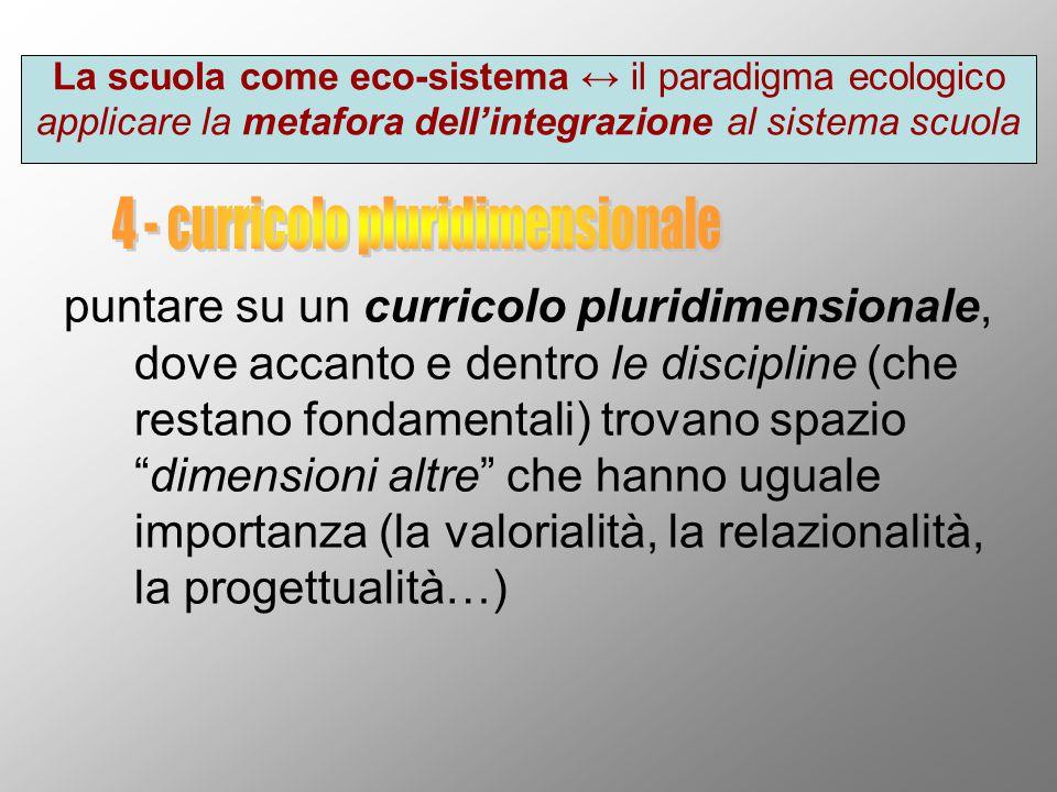 4 - curricolo pluridimensionale