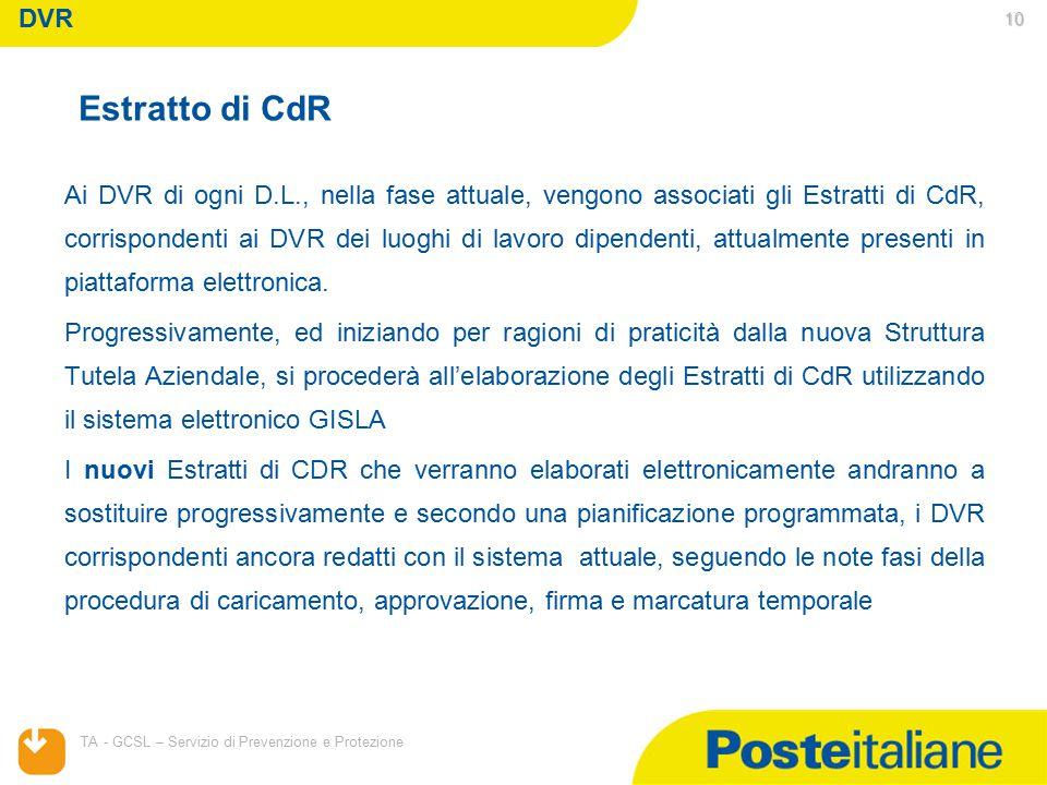 DVR Estratto di CdR.