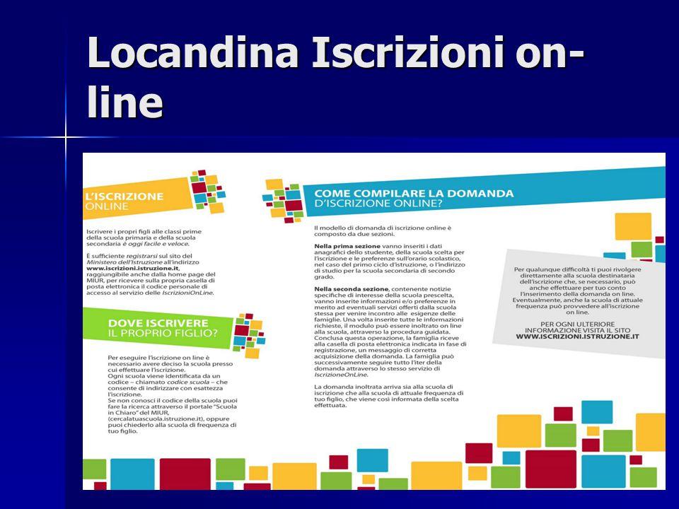 Locandina Iscrizioni on-line