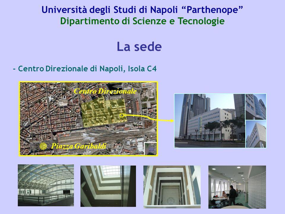 Università degli Studi di Napoli Parthenope Dipartimento di Scienze e Tecnologie