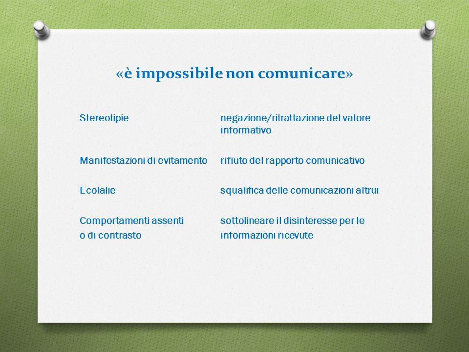 «è impossibile non comunicare»