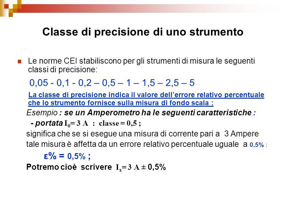 Classe di precisione di uno strumento