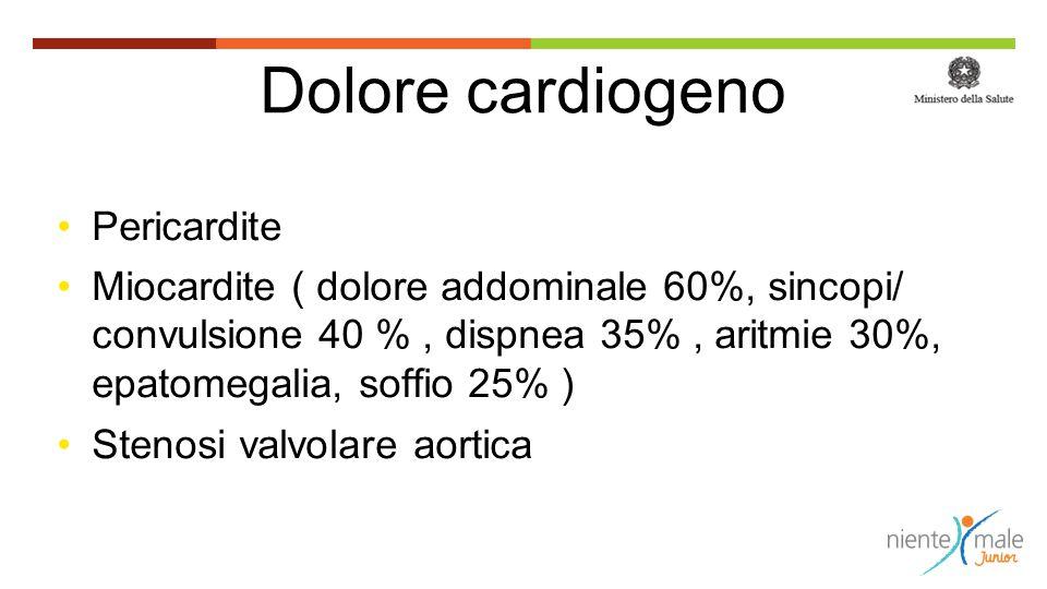 Dolore cardiogeno Pericardite