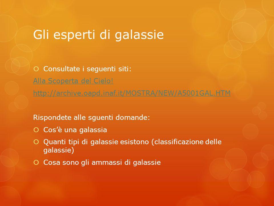 Gli esperti di galassie