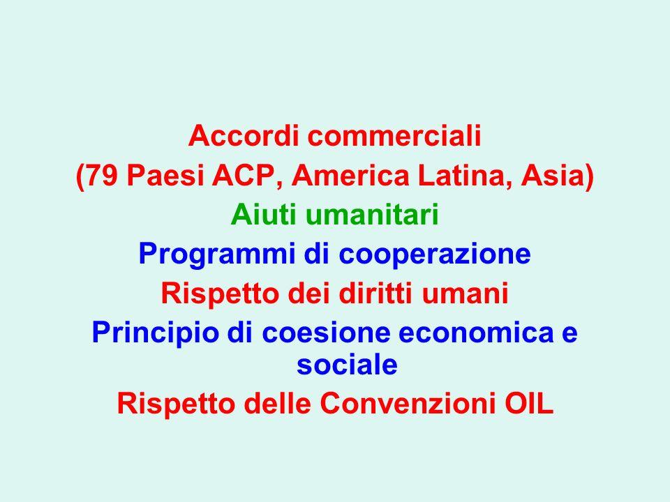 (79 Paesi ACP, America Latina, Asia) Aiuti umanitari