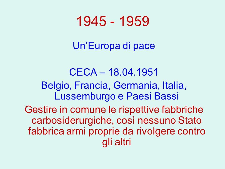 Belgio, Francia, Germania, Italia, Lussemburgo e Paesi Bassi