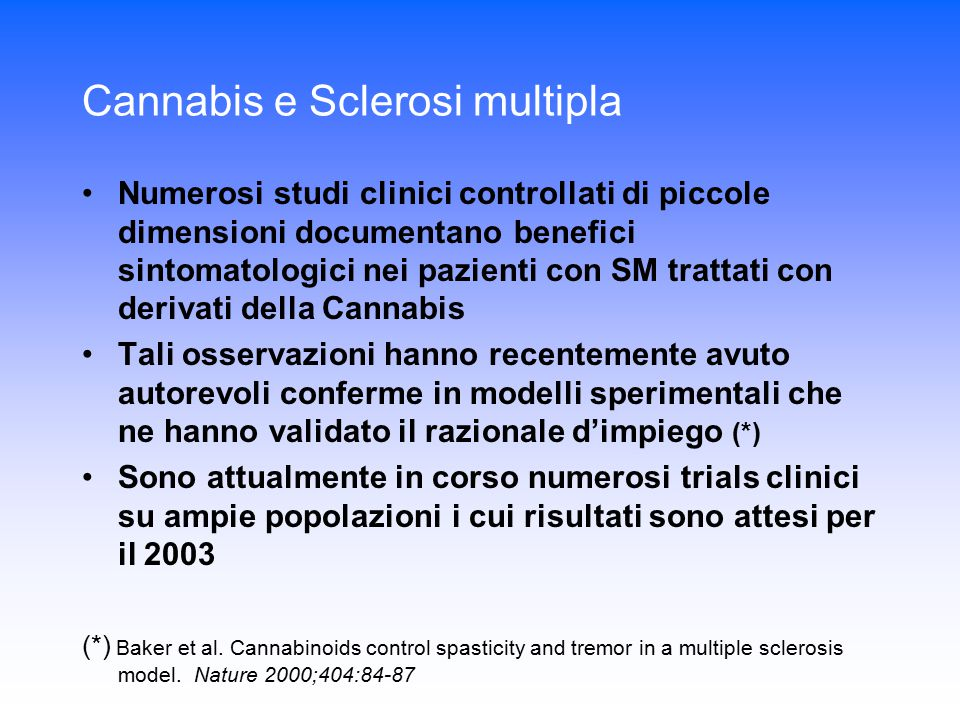 Cannabis e Sclerosi multipla