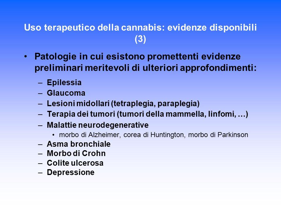Uso terapeutico della cannabis: evidenze disponibili (3)