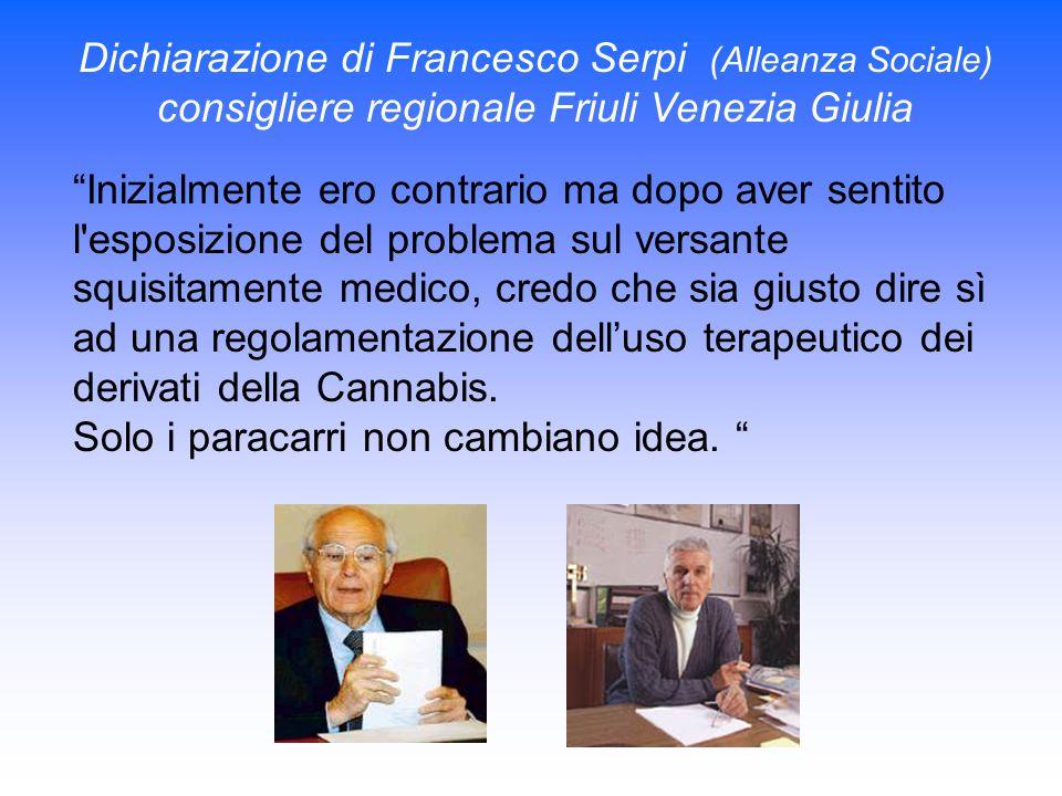 Dichiarazione di Francesco Serpi (Alleanza Sociale)