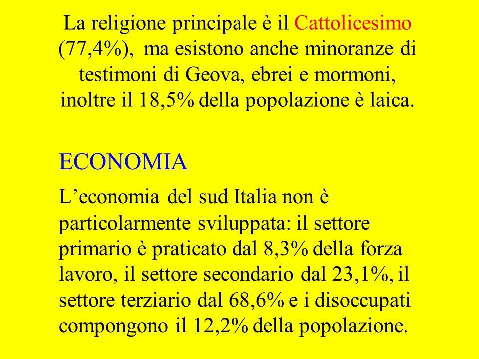 La religione principale è il Cattolicesimo (77,4%), ma esistono anche minoranze di testimoni di Geova, ebrei e mormoni, inoltre il 18,5% della popolazione è laica.