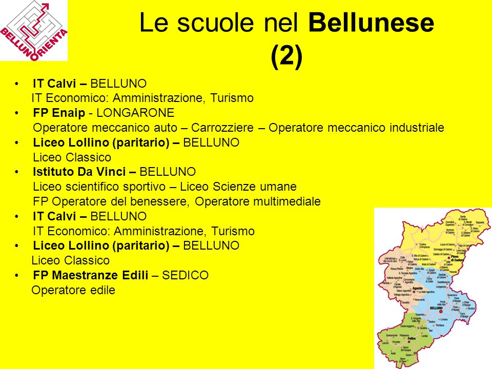 Le scuole nel Bellunese (2)
