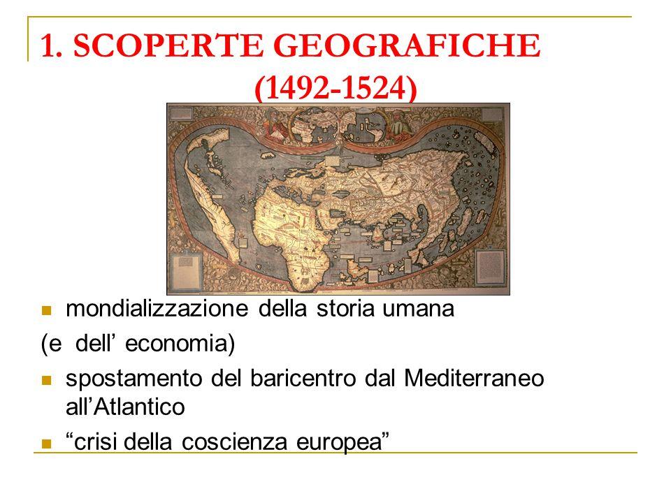 1. SCOPERTE GEOGRAFICHE (1492-1524)