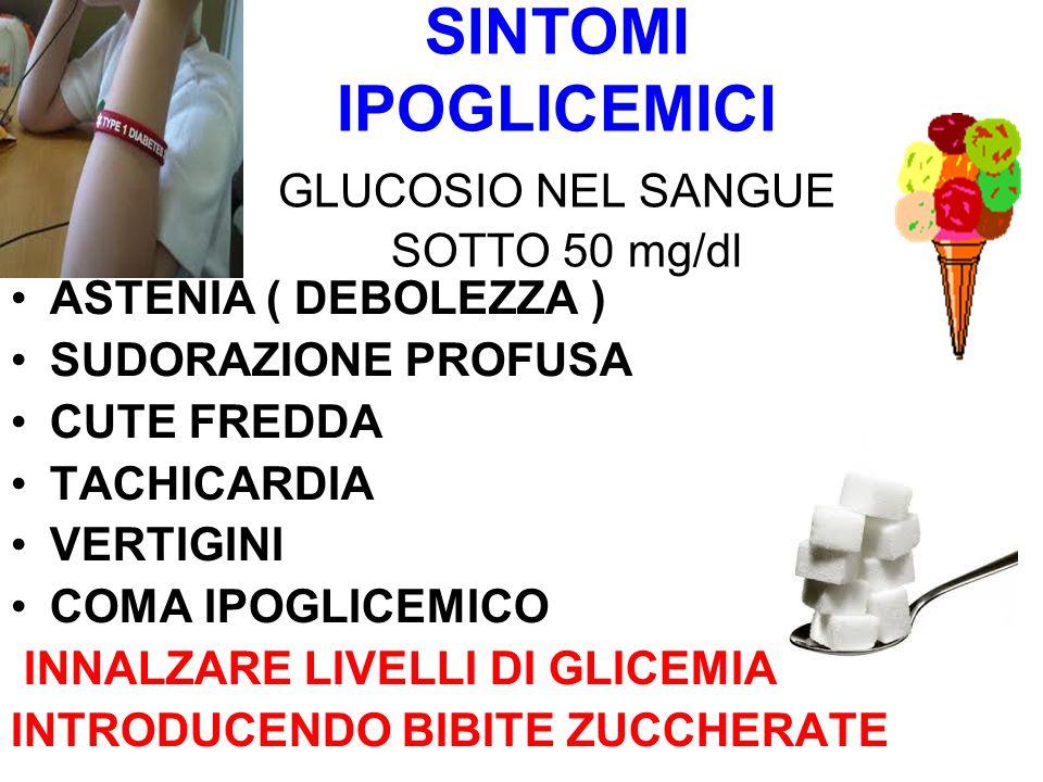 SINTOMI IPOGLICEMICI GLUCOSIO NEL SANGUE SOTTO 50 mg/dl