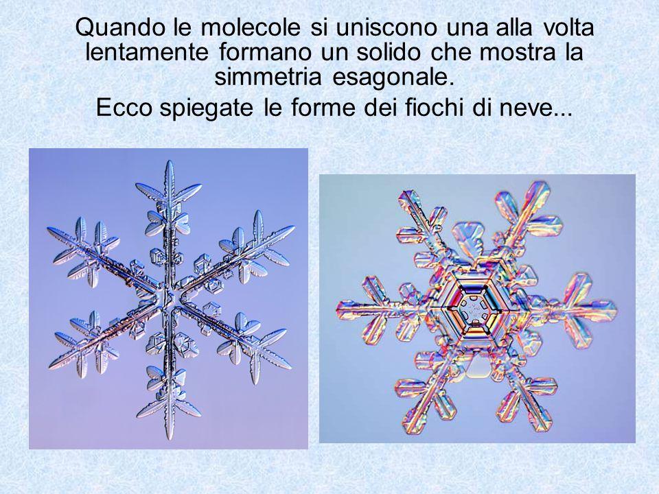 Ecco spiegate le forme dei fiochi di neve...