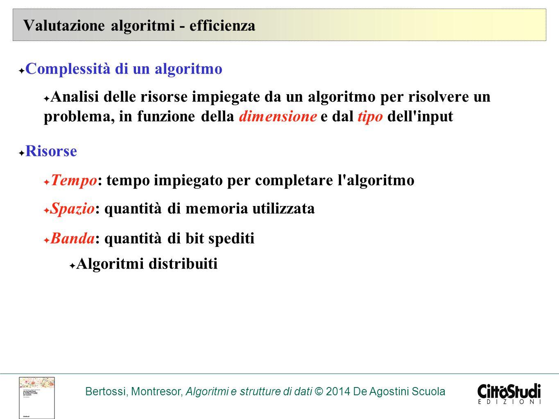 Valutazione algoritmi - efficienza
