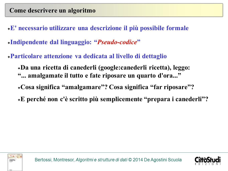 Come descrivere un algoritmo