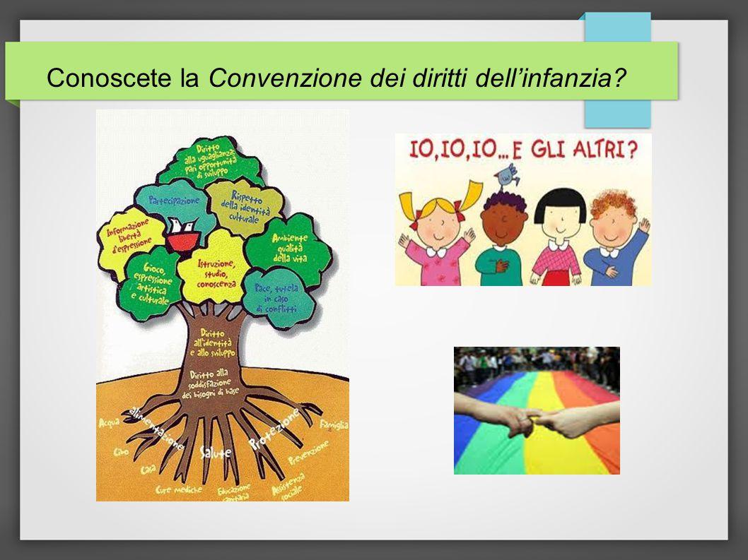Conoscete la Convenzione dei diritti dell'infanzia