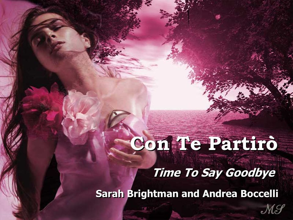 Con Te Partirò Time To Say Goodbye Sarah Brightman and Andrea Boccelli