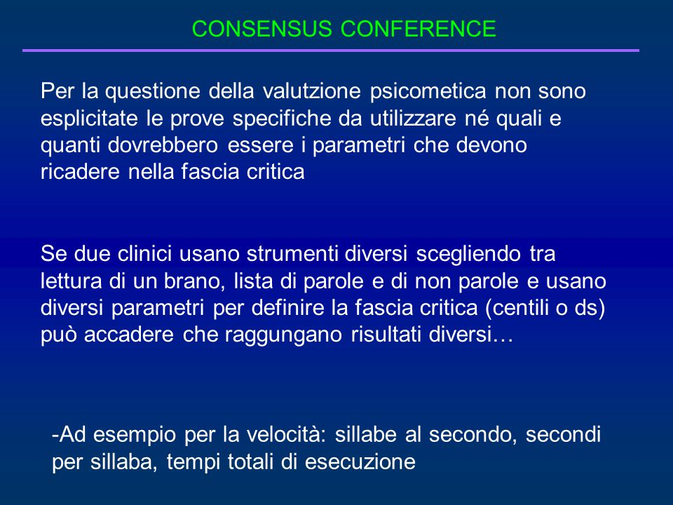 CONSENSUS CONFERENCE
