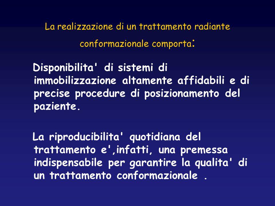 La realizzazione di un trattamento radiante conformazionale comporta: