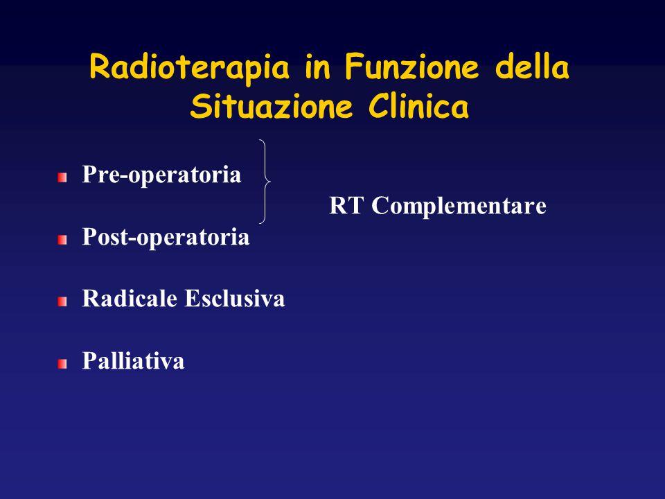 Radioterapia in Funzione della Situazione Clinica