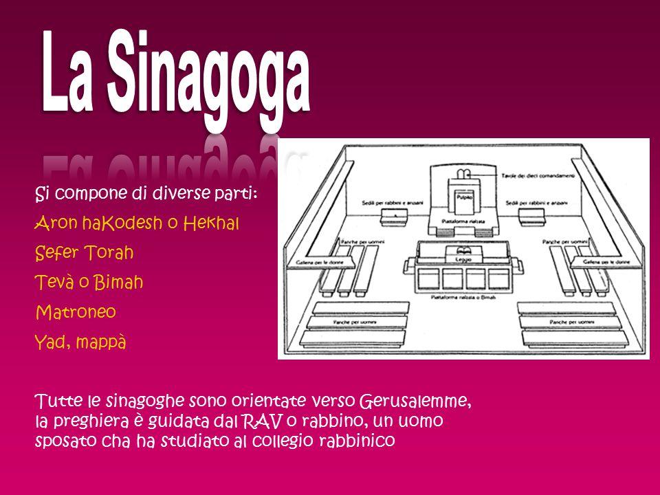 La Sinagoga Si compone di diverse parti: Aron haKodesh o Hekhal
