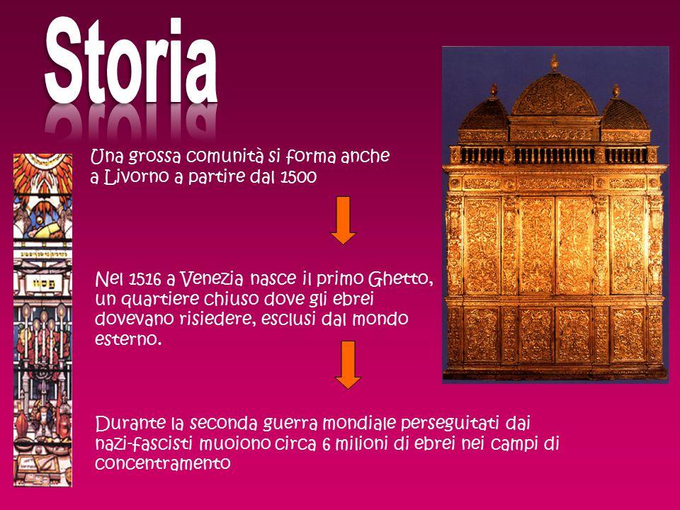 Storia Una grossa comunità si forma anche a Livorno a partire dal 1500