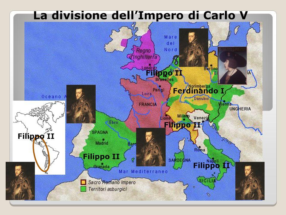 La divisione dell'Impero di Carlo V