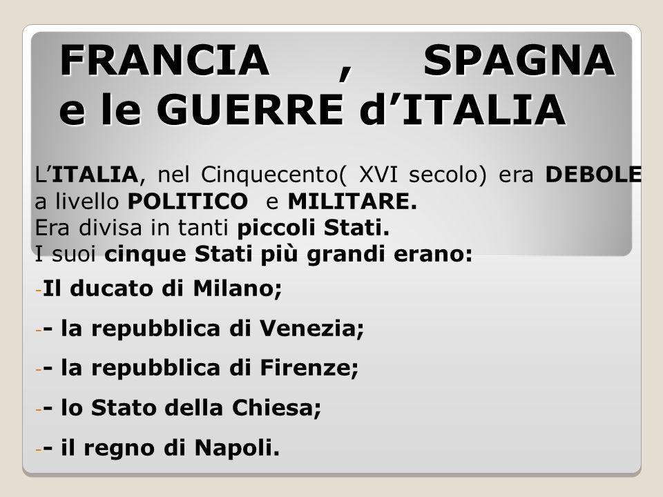 FRANCIA , SPAGNA e le GUERRE d'ITALIA