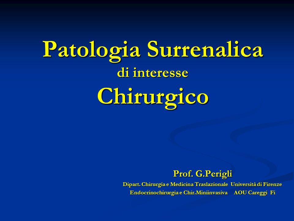 Patologia Surrenalica di interesse Chirurgico