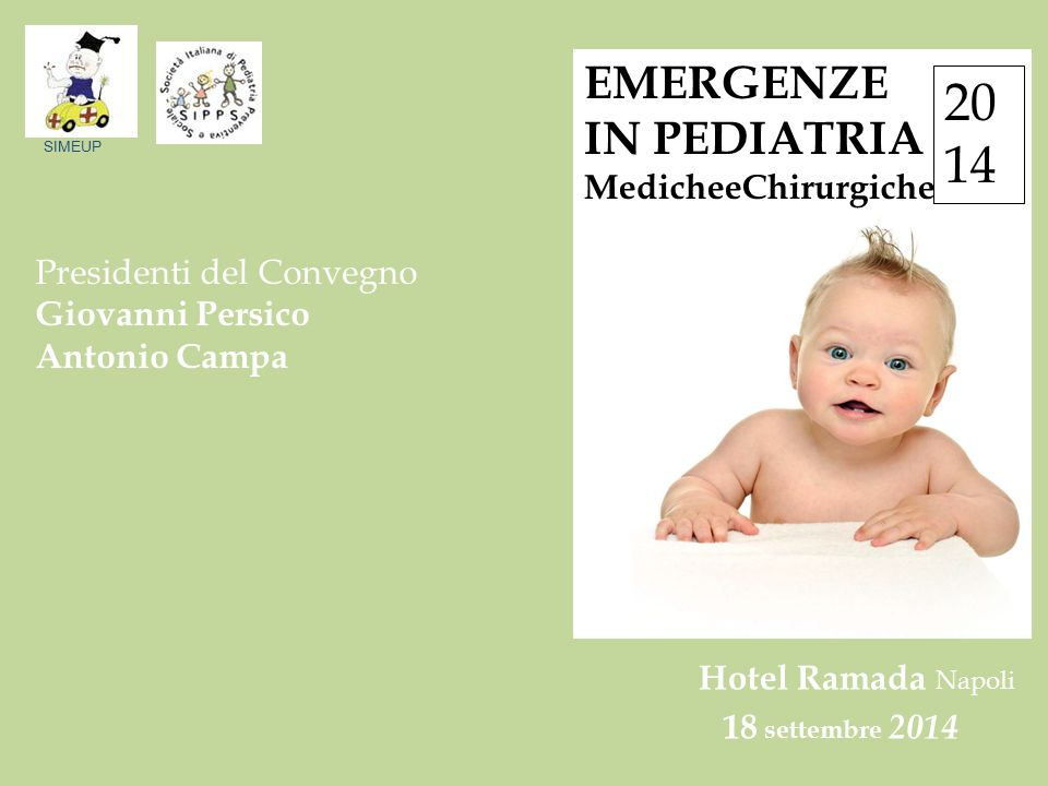 20 14 EMERGENZE IN PEDIATRIA MedicheeChirurgiche