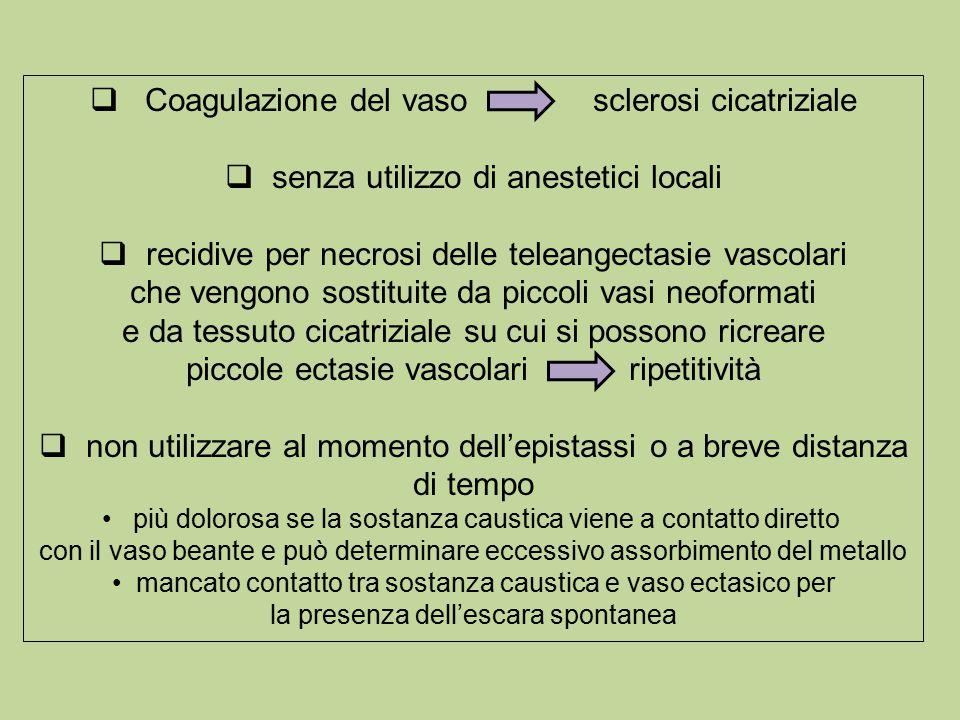 Coagulazione del vaso sclerosi cicatriziale