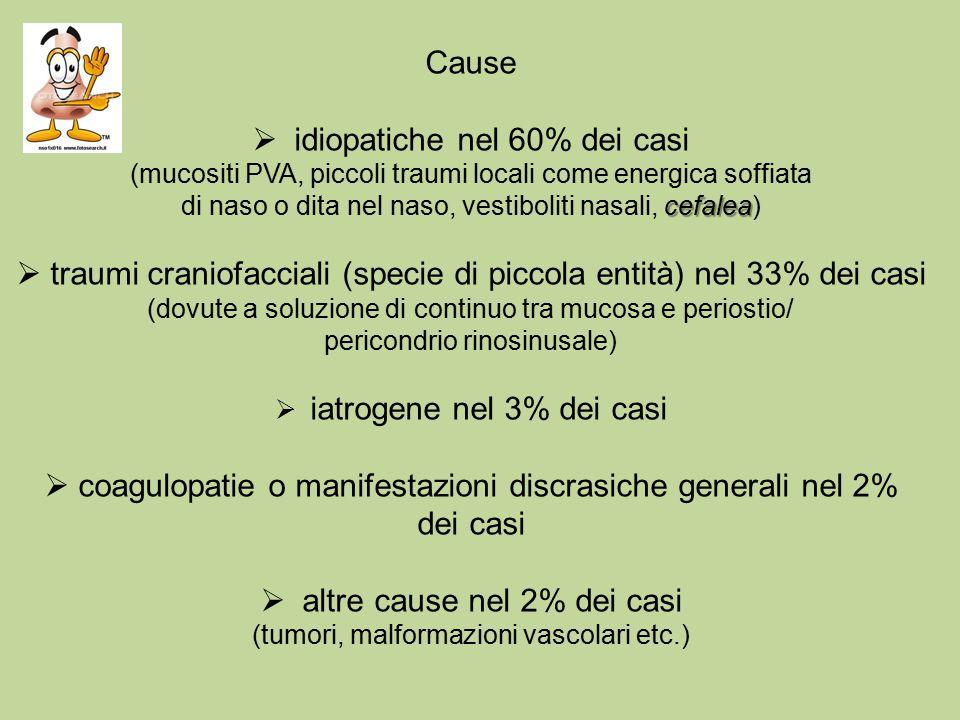 idiopatiche nel 60% dei casi
