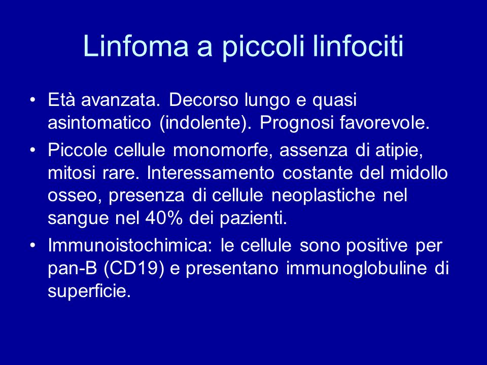 Linfoma a piccoli linfociti