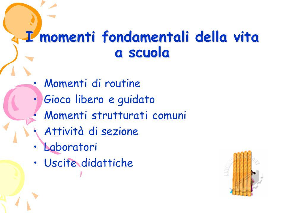 I momenti fondamentali della vita a scuola