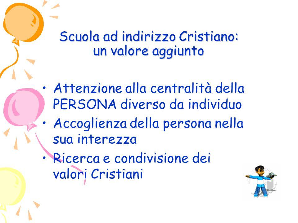 Scuola ad indirizzo Cristiano: un valore aggiunto