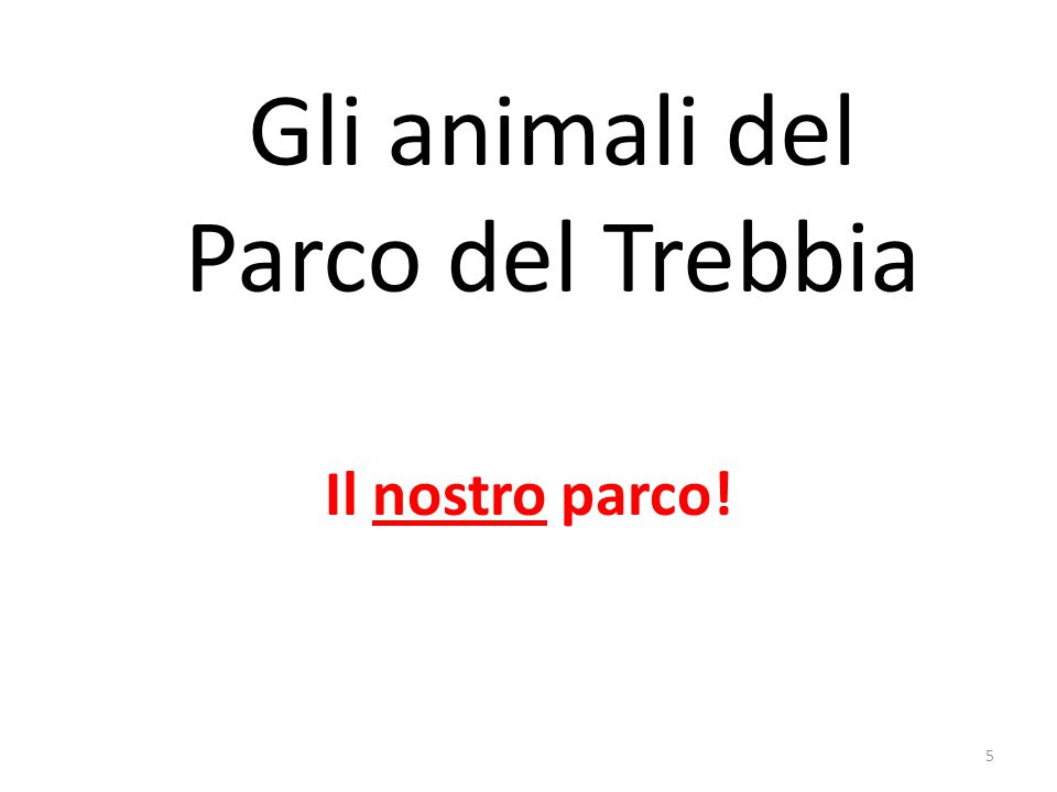 Gli animali del Parco del Trebbia